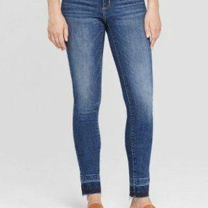 Universal Thread Released Hem Skinny Jeans Sz 0